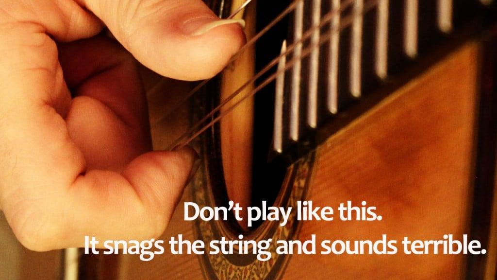 Classical guitar bad technique