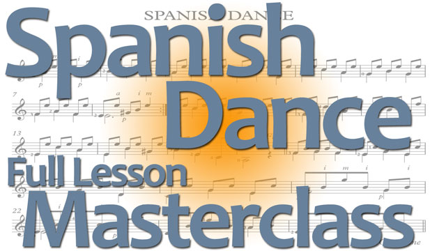 spanish dance for classical guitar