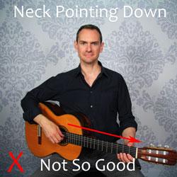 folk guitar position