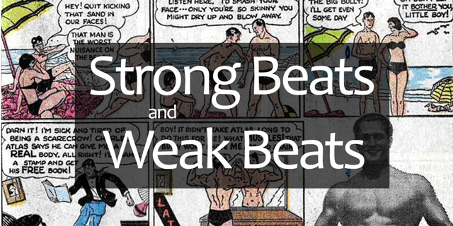 strong and weak beats