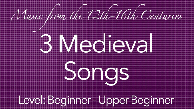Medieval Guitar Music To Learn And Play On Classical Guitar