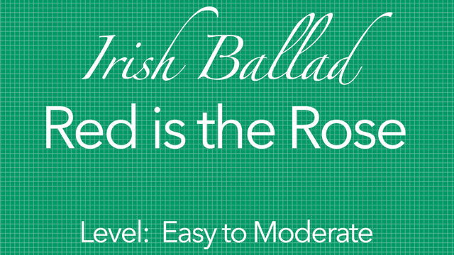 irish ballad for classical guitar: red is the rose