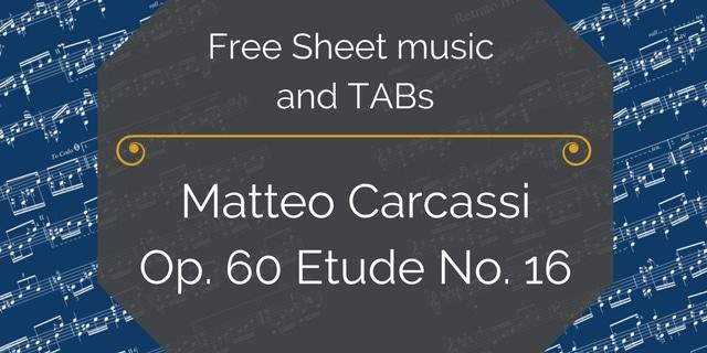 Carcassi etude pdf guitar