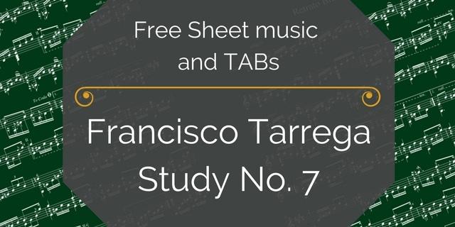 Tarrega study 7 free pdf