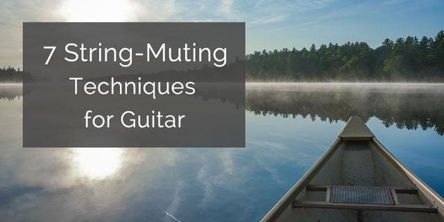 string muting classical guitar