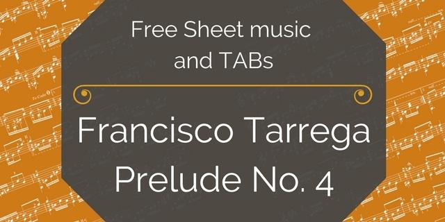 tarrega prelude free pdf