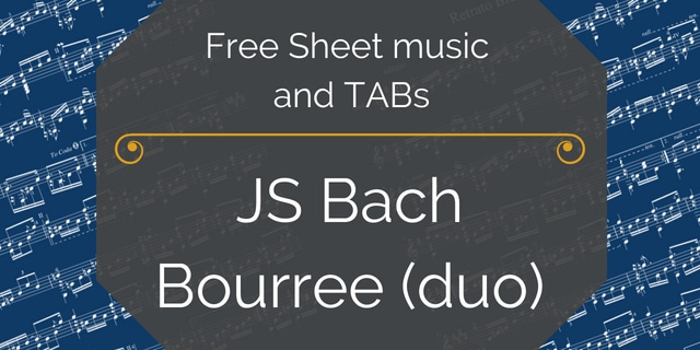 bach guitar duo bourree