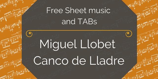 llobet canco guitar pdf