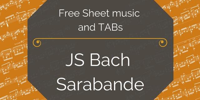 Bach Sarabande free pdf