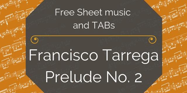 Tarrega prelude pdf free