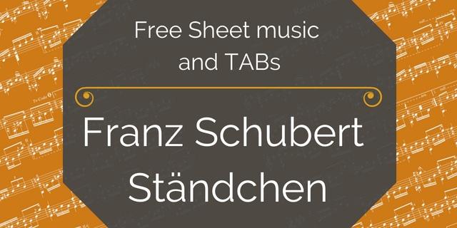Free classical guitar sheet music franz schubert stndchen schubert franz stndchen arr jk mertz solutioingenieria Choice Image