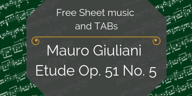 Giuliani free guitar music