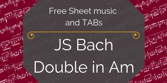 Bach double free music