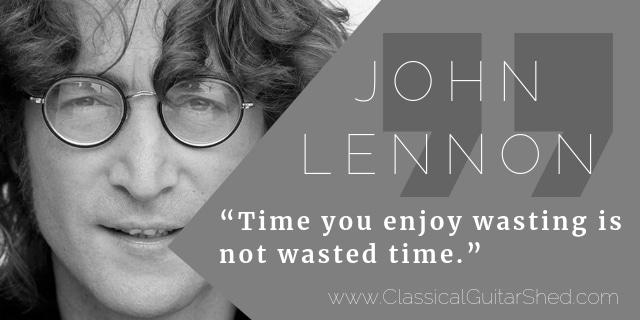 John Lennon guitar practice