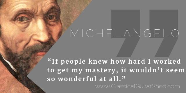 Michelangelo guitar practice