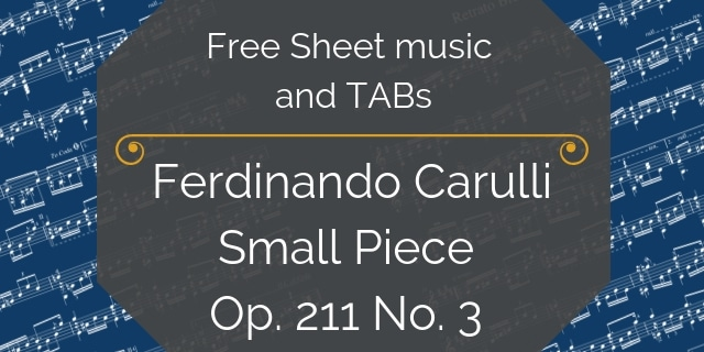 Carulli free guitar music