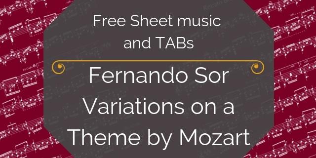 Mozart Sor Guitar pdf