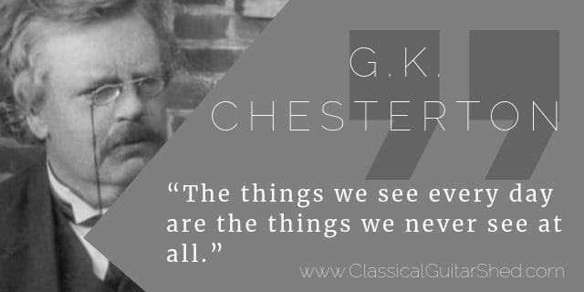 Chesterton guitar practice