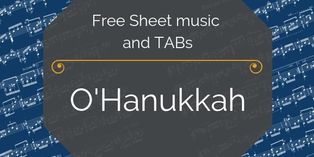 Hanukkah holiday guitar music