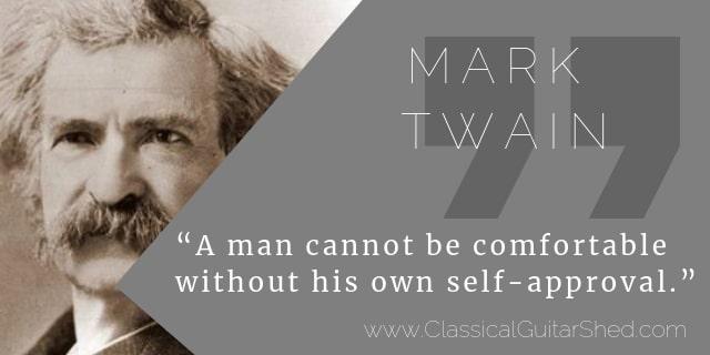 Mark Twain guitar practice
